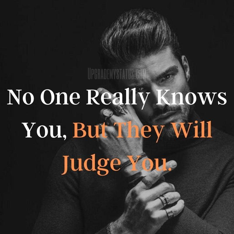 image of young stud with black background over it sentence Written about judgement