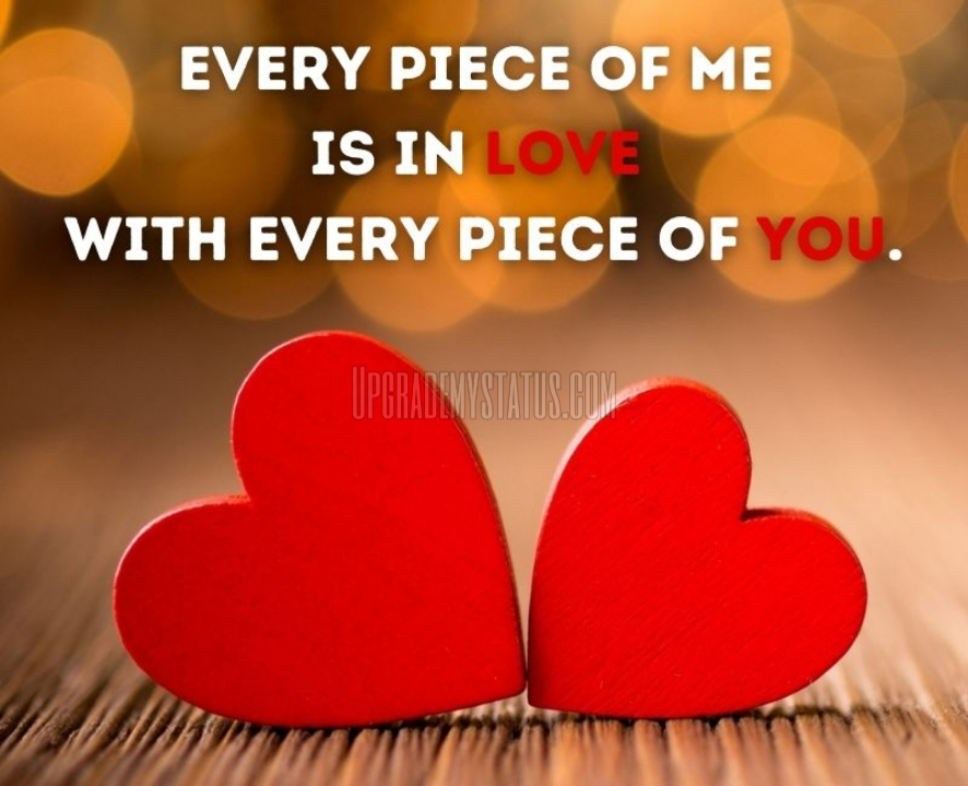 Image Of Two Heart With Love Caption