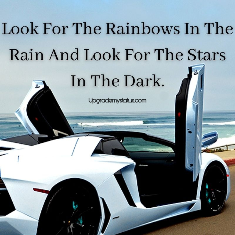 Motivational status with the car parked at the sea view