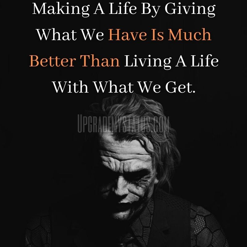 image of movie character joker with attitude life status written on it.