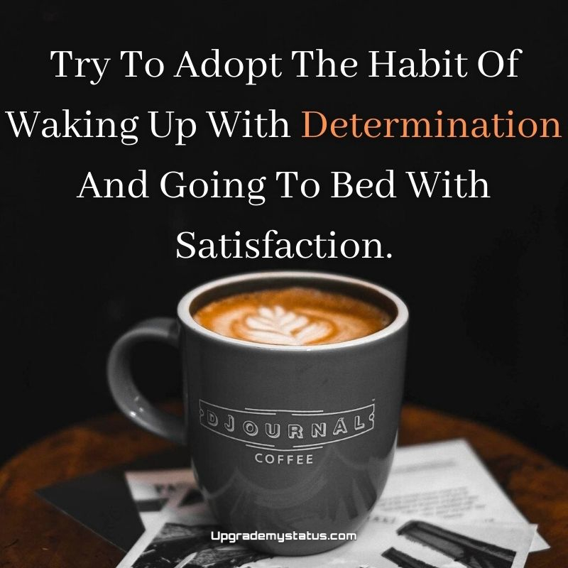 motivational status over a image of coffee cup