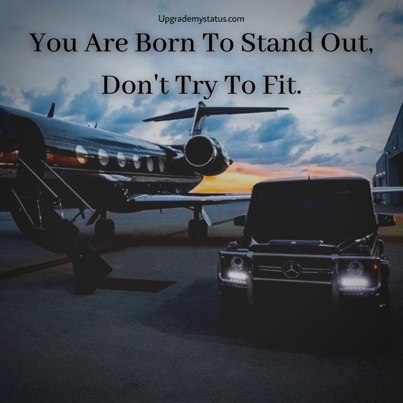 Motivational status about life over a private jet and Mercedes G wagon