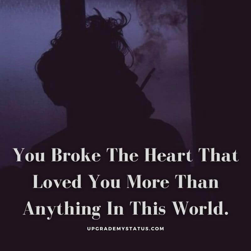 Breakup love status