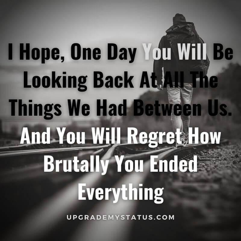 sad breakup status