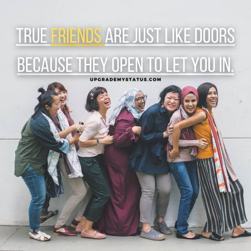 a group of seven girl having fun over it a friendship for whatsapp is written