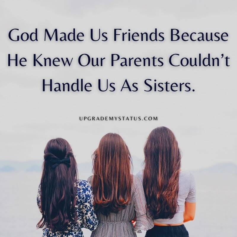 Image of three girls with quotes written over it