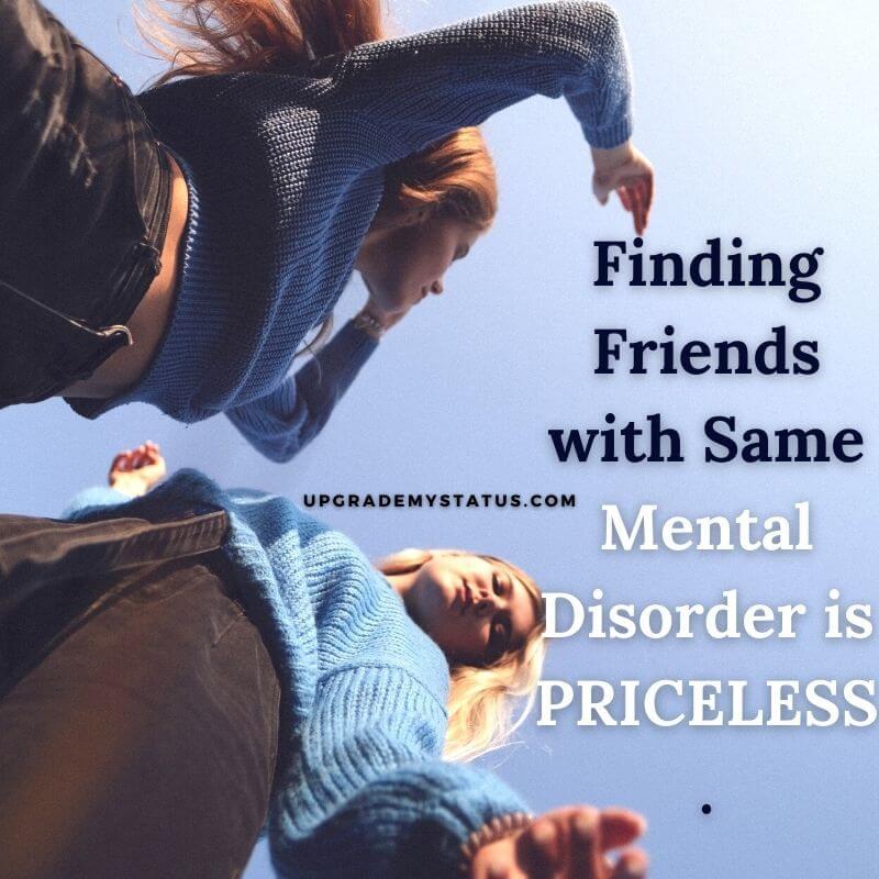 image of a two girls wearing blue shirt over it best friendship status is written