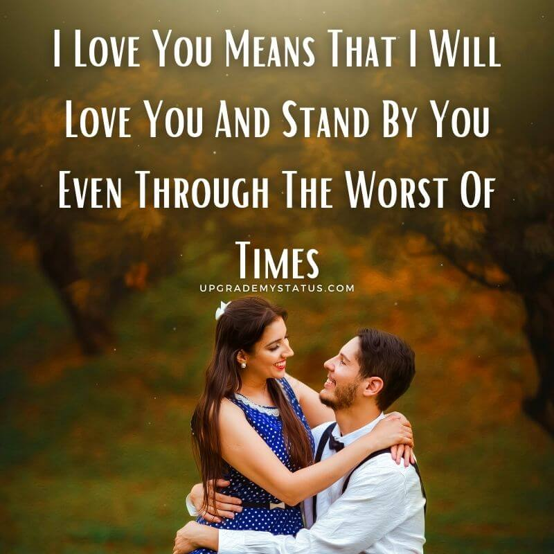 image of girl sitting in the lap of a boy and smiling at each other over it romantic line about love is written